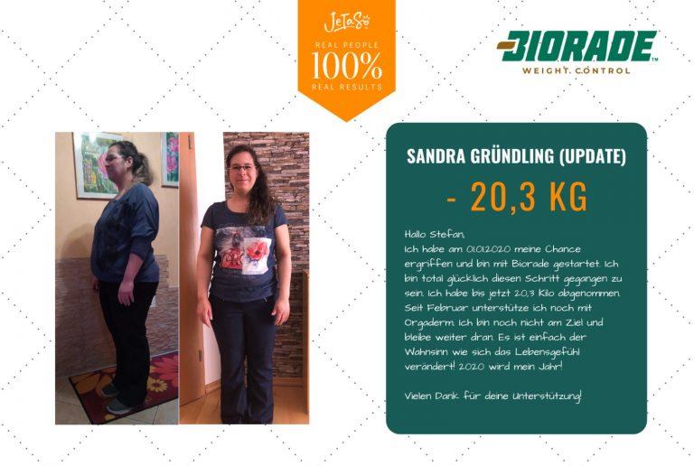 Sandra Gründling 20,3kg